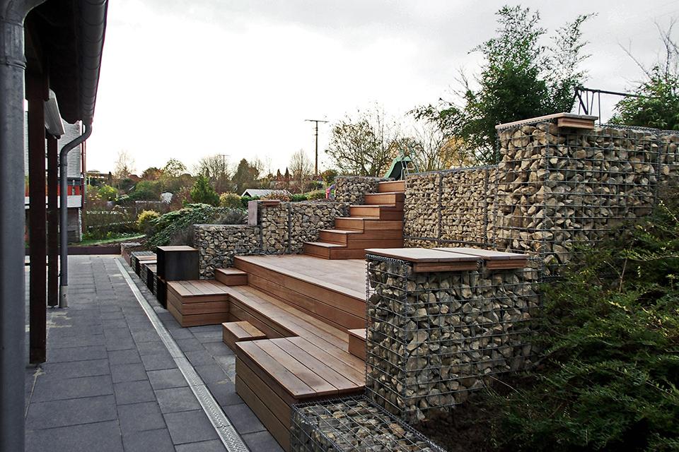 Création de terrasse en gradin mobilier sur mesure pour l ...